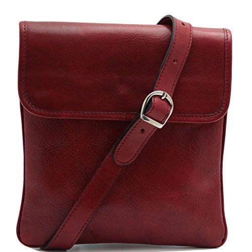 Tuscany Leather - Joe - Borsello in pelle a tracolla Nero - TL140987/2 Rosso