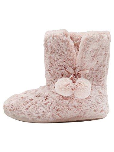mco-ladies-super-soft-coft-fluffy-faux-fur-pom-pom-trim-slipper-boots-pink-6