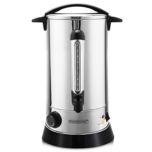 Distributeur de boissons chaudes • 20L • percolateur en acier inoxydable | café thé soupe chocolat chaud vin chaud - marché de noël