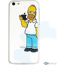 MooveTeck - Carcasa para iPhone 5C, diseño de Homer Simpson, color transparente