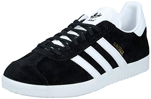 adidas Gazelle, Baskets Homme - Noir (Core Black/White/Gold Metallic) - 42 2/3 FR