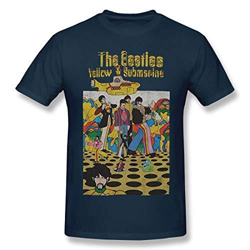 Fomente Beatles Yellow Submarine Herren Komfortabel T Shirt Navy 6XL (Beatles Themen Kostüm)