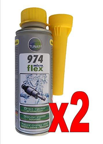TUNAP 974 Pulitore iniettori Benzina 200 ml. n. 2 flaconi