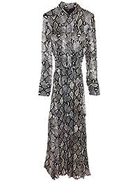 87d5f5bb96 MASSIMO DUTTI Women s Snakeskin Print Dress with tie Belt 6649 816