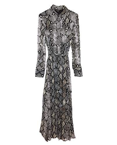 96f7324e34fe7 Massimo Dutti Damen Kleid mit schlangenhautprint und Schleife 6649 816 (36  EU)