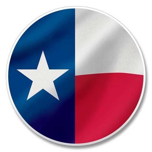 Texas Flagge Auto Untersetzer 6,6cm rund X 3