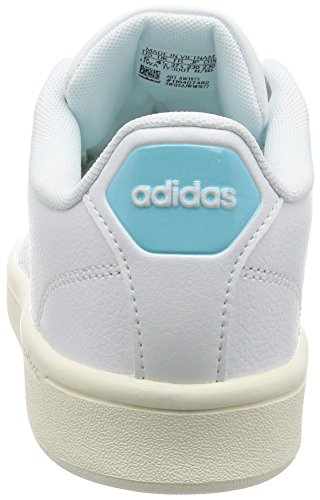 adidas Cloudfoam Advantage, Sneakers Basses Femme Blanc (Ftwwht/ftwwht/claqua)