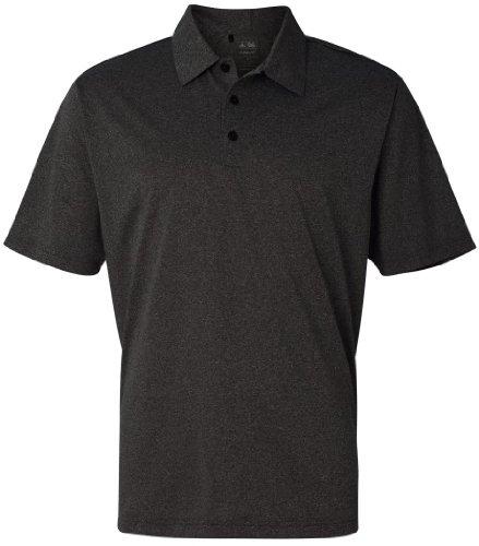 Adidas ClimaLite Heathered Polo–Matrix–S schwarz - Black Heather