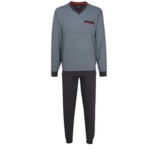 Götzburg Herren Nachtwäsche Zweiteiliger Schlafanzug, Pyjama lang, aus Baumwolle 52