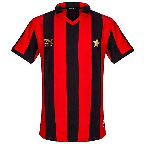 Cruyff Classics 1981 AC Mailand Retro Trikot - Red/Black - XXL