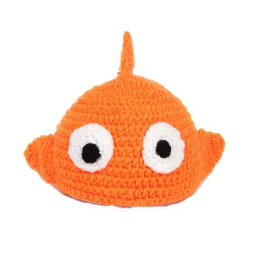La vogue Gelb Fisch Stricken Häkeln Baby Bodys Mütze Beanie Babykleidung Tiere Windel-Abdeckung für Kostüm /Fotografie