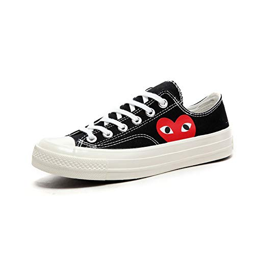 aa43288d6cf Adult's Replica Canvas Shoes Joint Name CDG Play Heart Low-Top Sneaker for  Men/