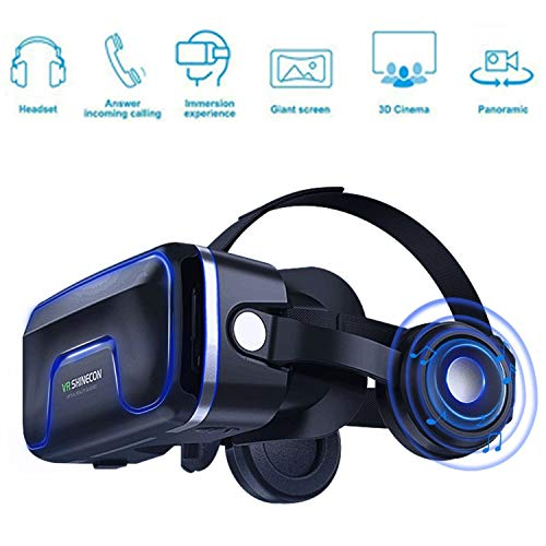 VR Brille 3D VR Headset - für 3D Filme und Spiele,Video Movie Game Brille 3D VR Brille,Kompatibel mit4.7~6.2 Zoll Smartphones,für iPhone 7 7s /6 6s+,Galaxy S8 S7 etc