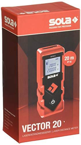 SOLA Laser-Entfernungmesser IP42 0,2 bis 20 m Art. VECTOR 20