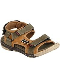 Real Blue Men Genuine Leather Velcro Sandal  Daily use Sandal  men Leather Sandal  Branded Sandal  Slip on Sandal.