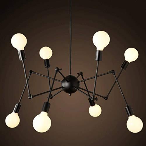 Abgail Spider Iron Art Kronleuchter Einfache Beleuchtung Retro Stretching Art Spider Kronleuchter -E27 Lampenhalter Industrial Wind 8-Lichter Kronleuchter, Pendelleuchten, Deckenleuchten, Insel Lichte -