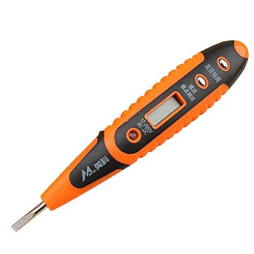Formulaone Digital-Test Bleistift Multifunktions AC DC 12-250 V Tester Elektrische LCD Display Spannungsprüfer Test-Stift für Elektriker Orange und Schwarz