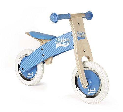 Janod Little Bikloon Mi Primera Bicicleta sin Pedales, Madera, Azul (J03258)