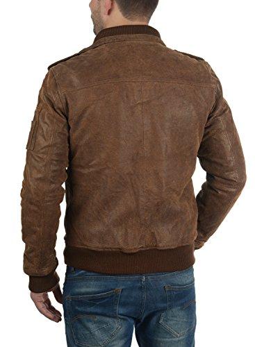 SOLID Fash - Veste en cuir véritable- Homme Cognac