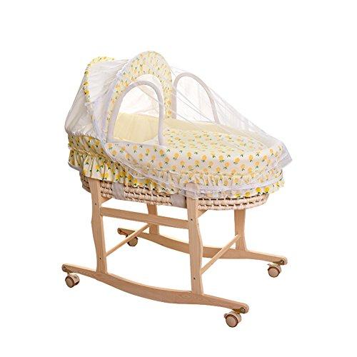 ALUK- Moses Basket, Newborn Car Portable Panier pour bébé, Panier de Couchage Lit Berceau Lit de bébé (Couleur : Package B)