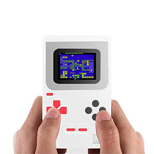 PowerFul-LOT Gameboy Tragbare Spielekonsole 268 Klassische Spiele Geburtstagsgeschenke für Kinder Weihnachten Tetris Nicht teuer Zero Display Classic weiß weiß 14 * 10 * 4 cm - Pokemon Elektronische Spielzeug