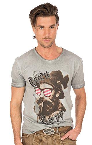 Hangowear Trachtenshirt Beppi Austria Grau, XL