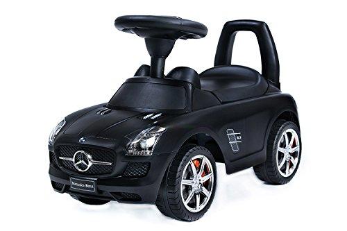 Rutschauto Rutscher Bobby Car Mercedes-BENZ SLS AMG Kinder Auto Baby Car mit Sound (SCHWARZ)