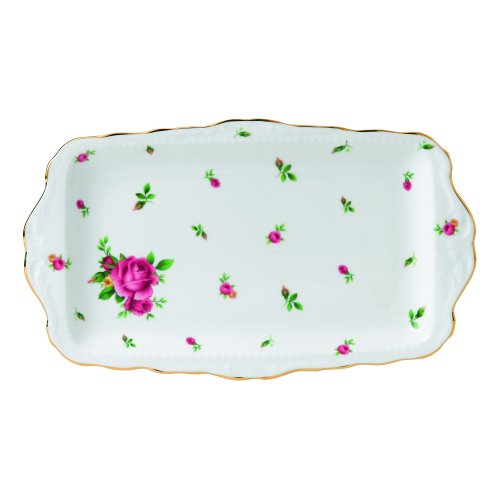 Rose Sandwich Tray (Royal Albert New Country Roses Weiß Vintage Sandwich Tray)