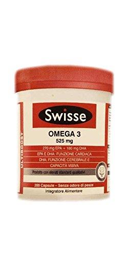 Swisse Wild Fish Oil Omega 3 Integratore Alimentare 200 Capsule