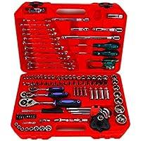 Conjunto de herramientas de hardware 121 Conjuntos de herramientas domésticas de combinación Caja de herramientas manual Reparación de automóviles (Color : Red)