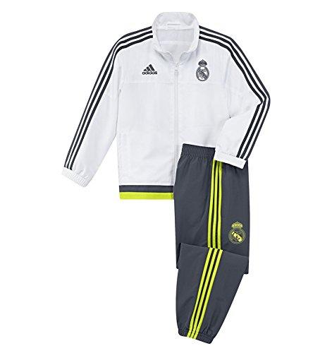 adidas Jungen Trainingsanzug Real PR Suit I, white/deespa/syello, 116, AA5602