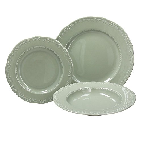 Tognana charme servizio tavola 18 pezzi, porcellana, verde salvia