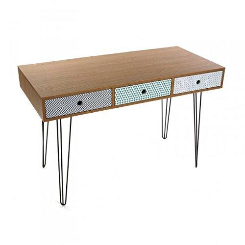 Mesa escritorio con 3 cajones de estilo vintage Modelo COSENZA