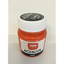 Titan Chalk Paint - Pintura efecto tiza, 803 Naranja 100 ml