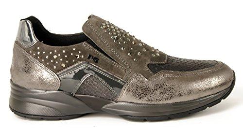 Pantofola con strass Nero Giardini art. A616033D-101 6033 Grigio Antracite 36
