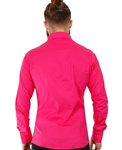 Redbridge Herren Regular Fit Freizeithemd R-2111 Fuchsia