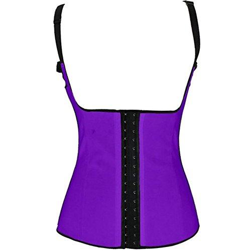 PULABO Latex Mezzo Trainer corsetti delle donne che dimagriscono Cincher Shaper corpo Viola