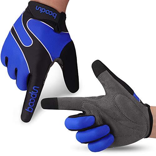 Molee Fahrradhandschuhe Radsporthandschuhe rutschfeste und stoßdämpfende Mountainbike Handschuhe mit Signalfarbe geeiget Unisex Herren Damen