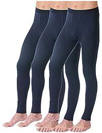 HERMKO 3540 Kit de 3 Pantalones Interiores para Hombre Long Johns
