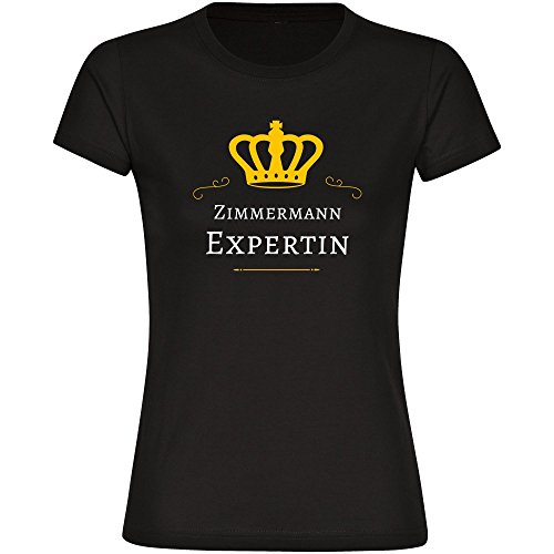 T-Shirt Zimmermann Expertin schwarz Damen Gr. S bis 2XL, Größe:XL