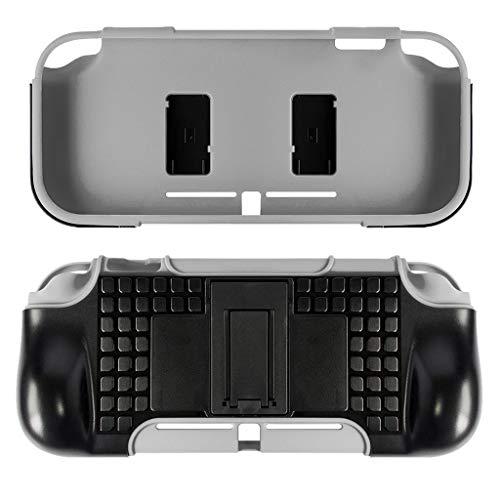 Webla Schutzhülle mit Halterung Integrierte, kratzfeste Schutzhülle Schützt die Schutzhülle für Ns Switch Lite, Tpu (Grau) -