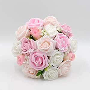 2491fa7f4af Silk Wedding Flowers Hand-Made by Petals Polly, Bridesmaids Posy ...