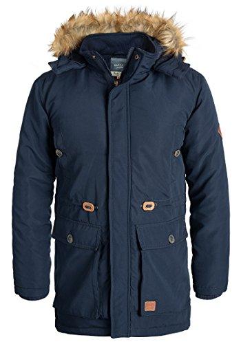 BLEND Polygro Herren Parka lange Winterjacke mit hochabschließendem Kragen aus hochwertiger Materialqualität, Größe:M, Farbe:Navy (70230)