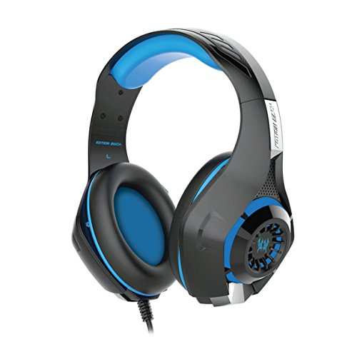 Kotion Each GS410 Headphones with Mic and for PS4, Xbox One, Laptop computer, PC, iPhone and Android Telephones(Blue) Image 2
