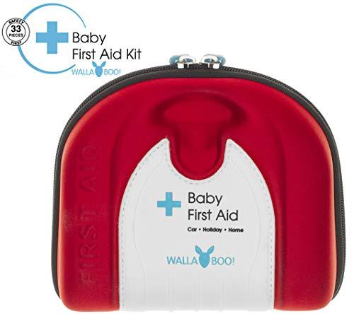 Wallaboo Trousse de secours, Adapté aux bébés, Avec un guide de premiers secours, Plastique...