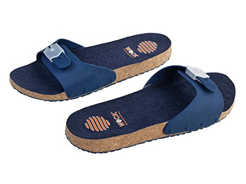 Sandalo confortevole Sanus - Calzatura professionale WOCK - Antiscivolo; Cinturino regolabile; Microfibra; Sughero Blu Navy/Blu Navy