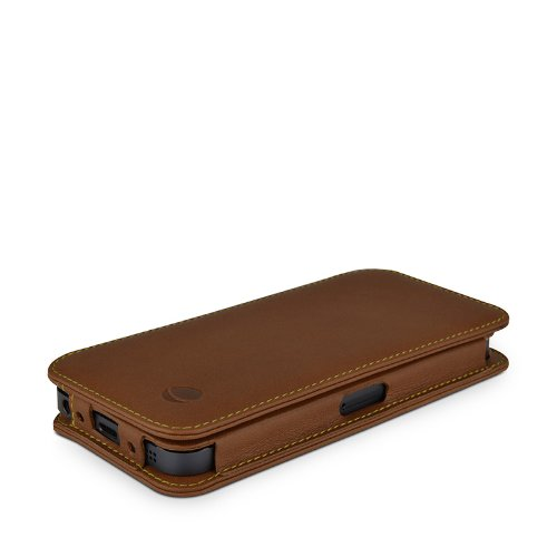 Beyzacases BZ23769 Housse Folio en cuir pour iPhone 5 Natural Brown Natural Tan