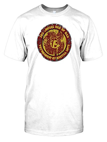 Mens White Dragon Shirt (3rd Annual Martial Arts Tournament - Enter the Dragon Mens T Shirt - white - Men 38-40