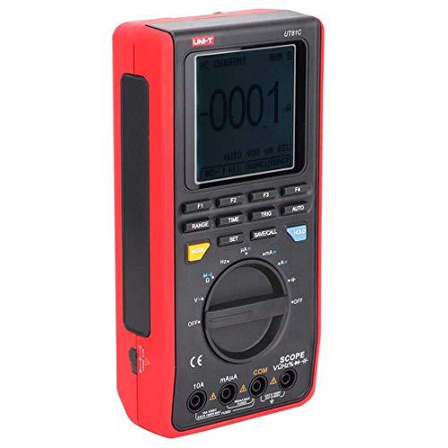 LLC-CLAYMORE Multímetro y osciloscopio 2 en 1 UT81C osciloscopio Digital portátil multímetro 16MHz 80MSa/s 100-240V, los Datos de diodo de Rango automático Hold AC DC Tester