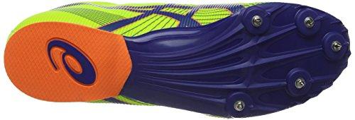 ASICS Hyper MD 6, Herren Laufschuhe Training Gelb (Flash Yellow/Deep Blue/Flash Orange 743)
